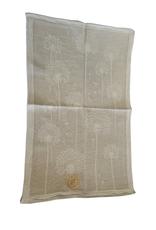 Linge à vaisselle motif pissenlit, 50% lin 50% coton