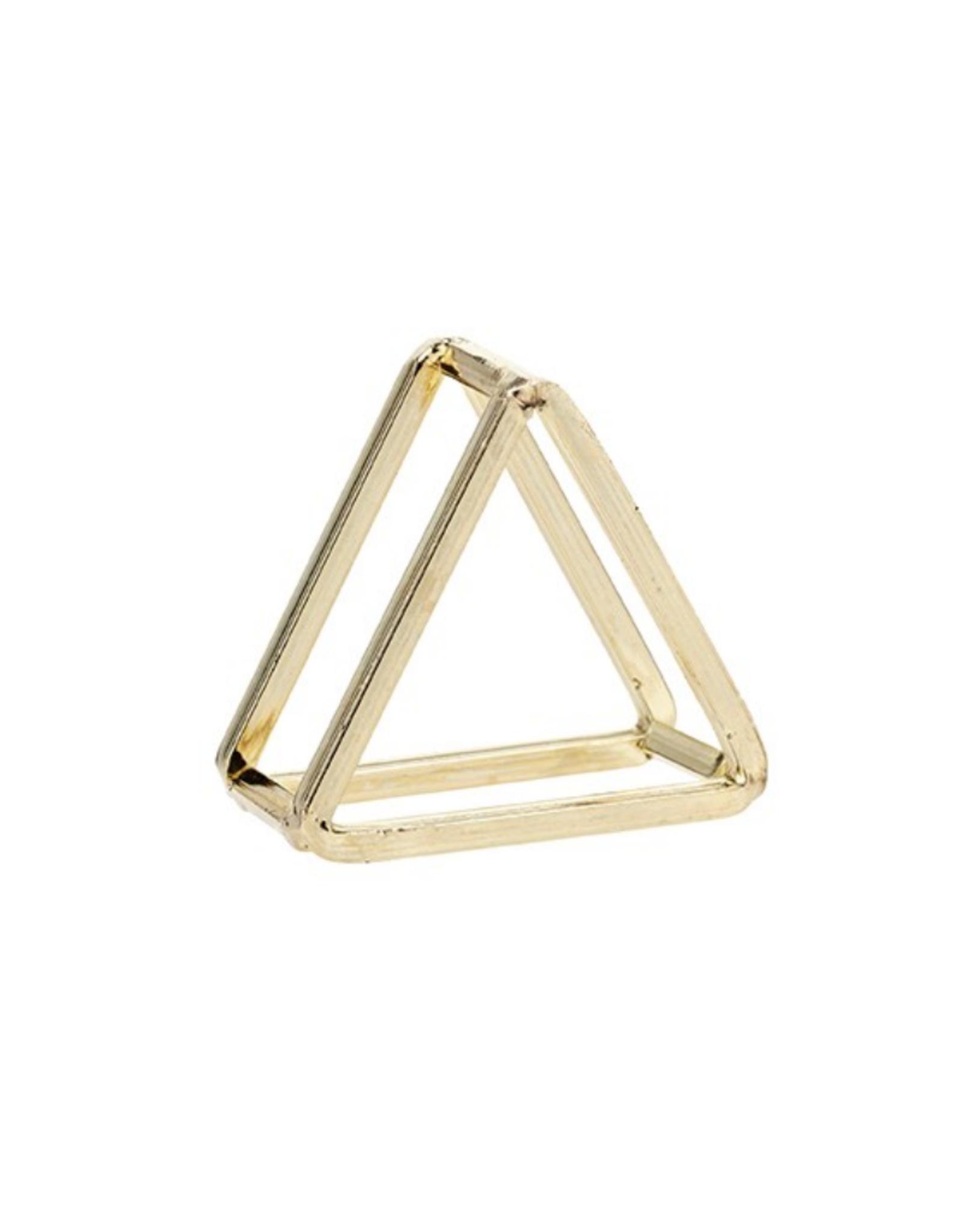 Harman Anneau de serviette triangulaire or