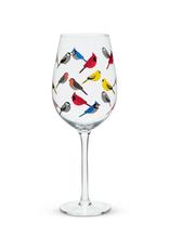 Abbott Coupe à vin Oiseaux multicolores