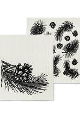 Abbott Ens. 2 linges en cellulose Cocottes et branches de pin