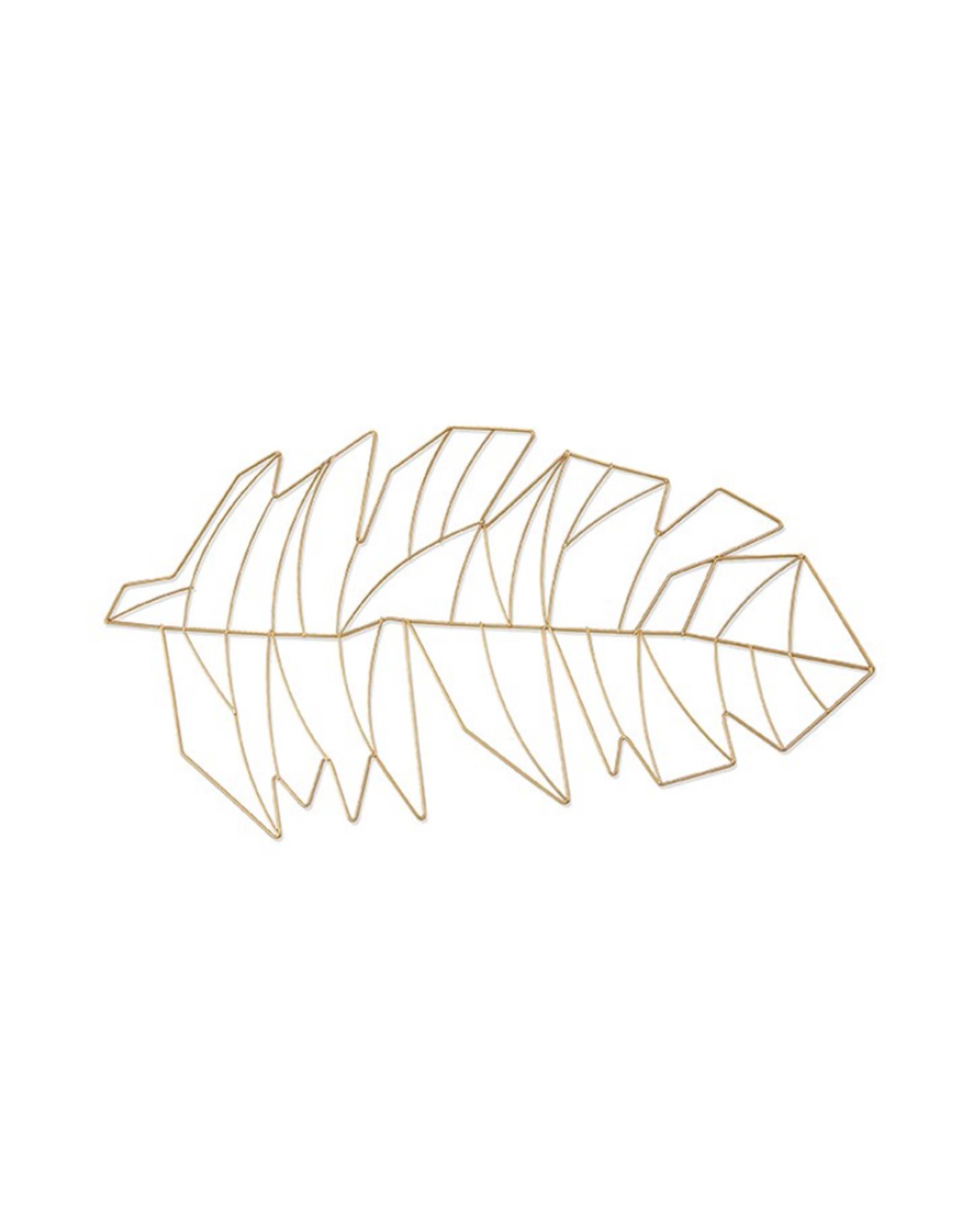 Harman Feuille de palmier en métal or 12 x 20
