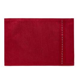 Harman Napperon 13 x 19'' soie rouge