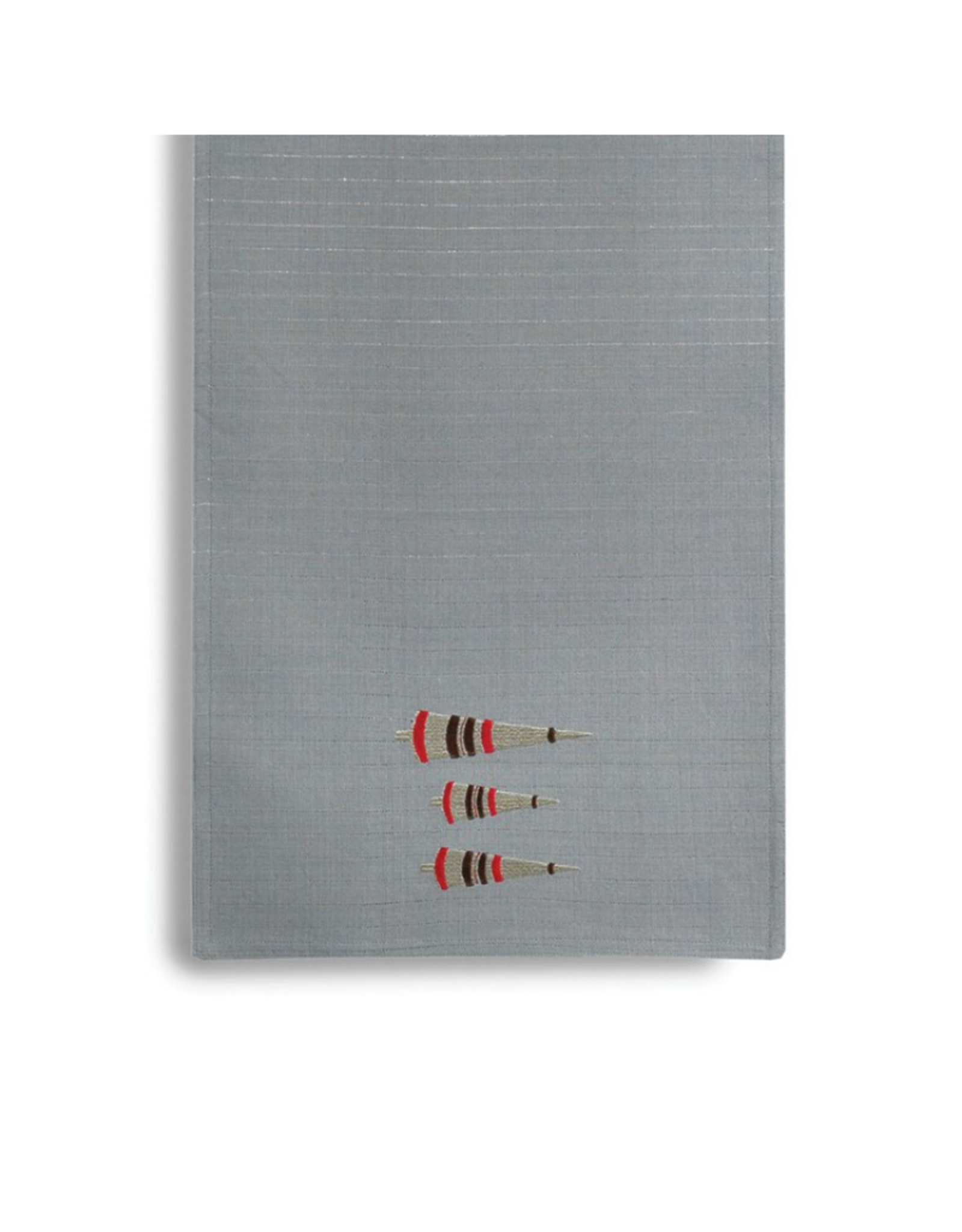 Harman Chemin de table 13 x 72'' avec sapins brodés