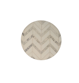 Highland Home Sous-verre ''modern art'' chevrons marbre brun et sable