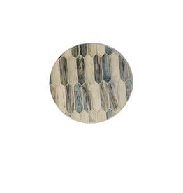 Highland Home Sous-verre ''modern art'' mosaique teintes de bleu et beige