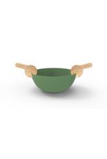 Pebbly Ensemble Bol de service et ustensiles à salade Vert sauge