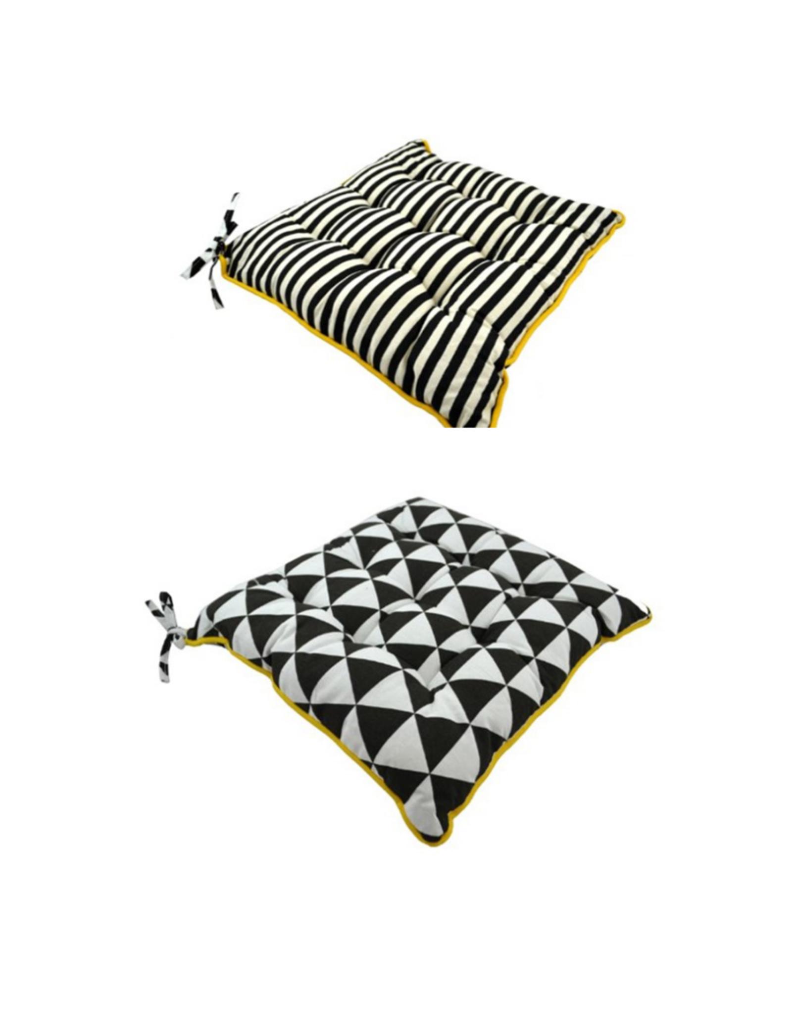 Coussin de chaise réversible Noir et blanc