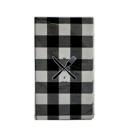 Napkins à carreaux noirs et blanc (Paquet de 10)