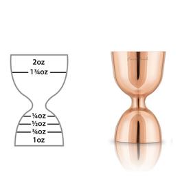Final Touch Mesure 2 côtés pour boisson (1oz et 2oz) cuivre