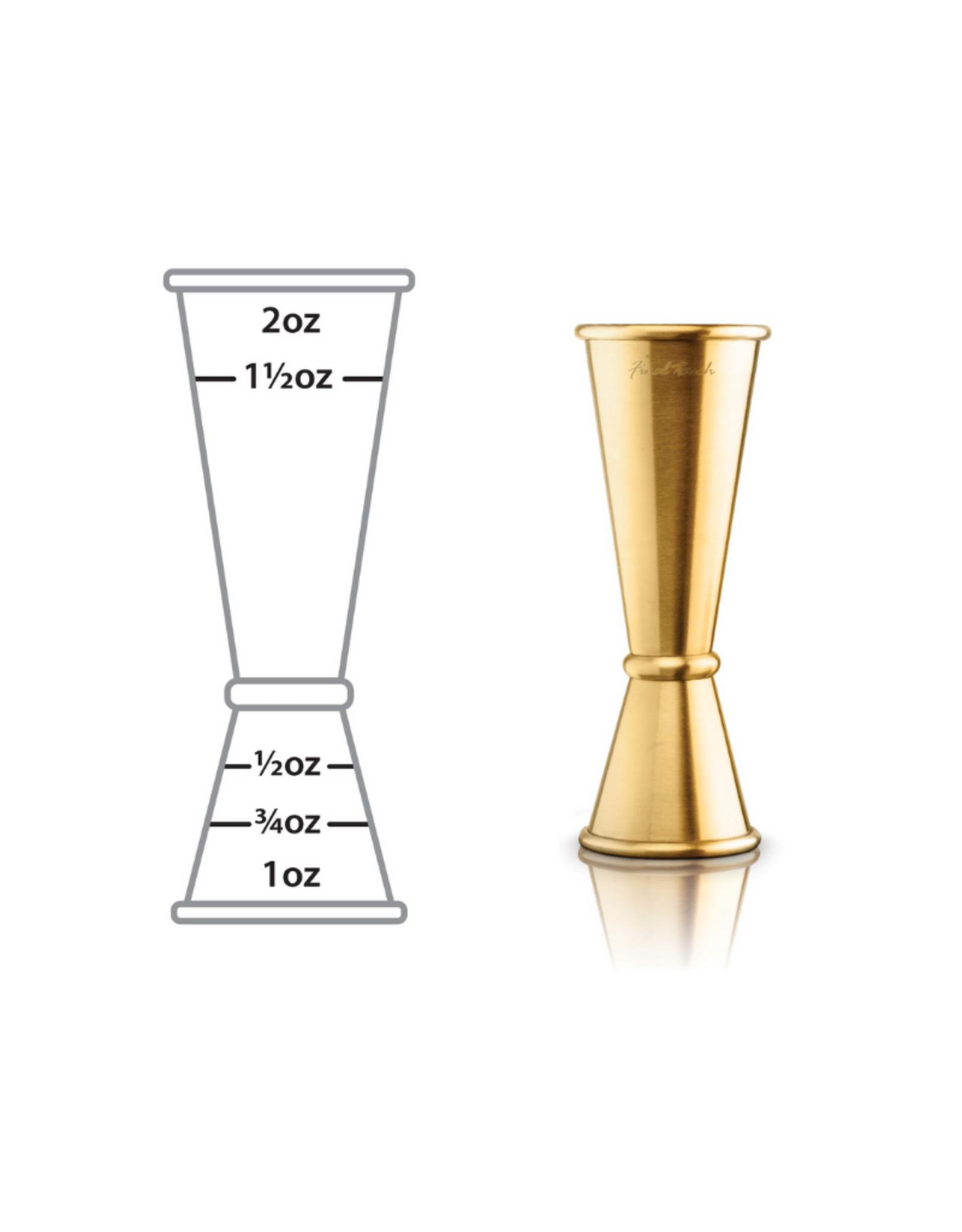 Final Touch Mesure 2 côtés pour boisson (1oz et 2oz) OR
