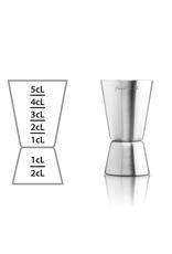 Final Touch Mesure 2 côtés pour boisson (1oz et 2oz) Acier inoxydable