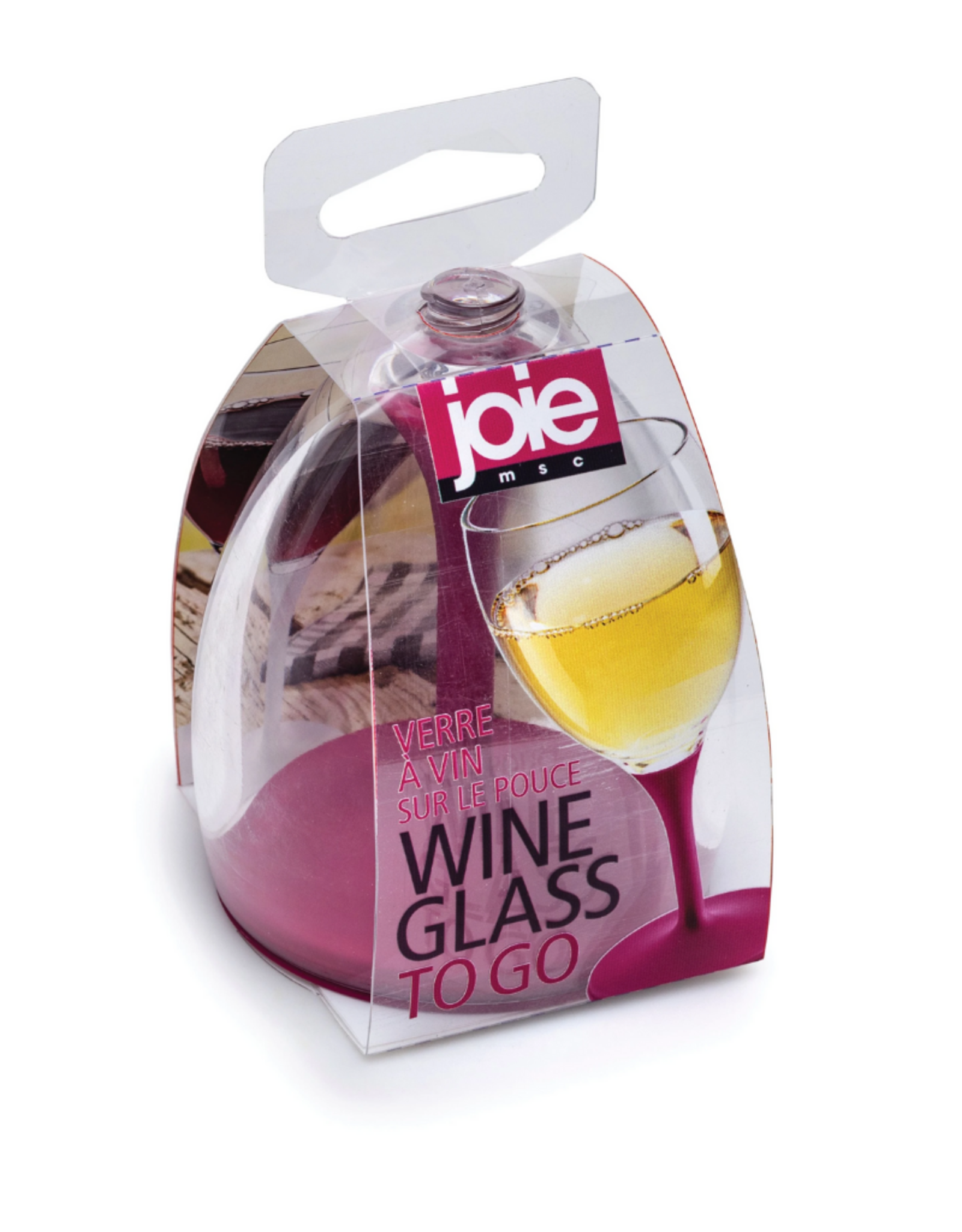 Joie Coupe à vin pour emporter - mauve