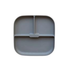 Minika Assiette séparée en silicone avec base succion -pierre