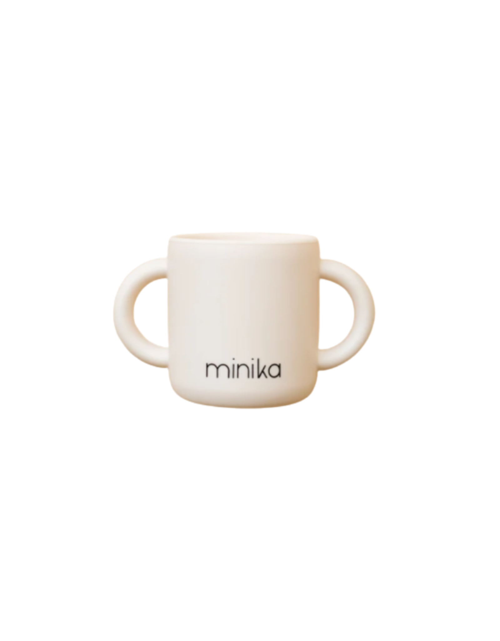 Minika Tasse d'apprentissage avec 2 poignées en silicone-coquillage