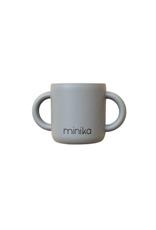 Minika Tasse d'apprentissage avec 2 poignées en silicone-pierre