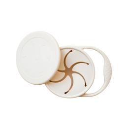 Minika Bol à collation rétractable avec couvercle et poignée en silicone-coquillage