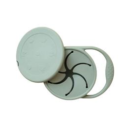 Minika Bol à collation rétractable avec couvercle et poignée en silicone-sauge