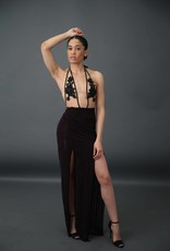 BellaNiecele Couture Sheer Double Slit Skirt