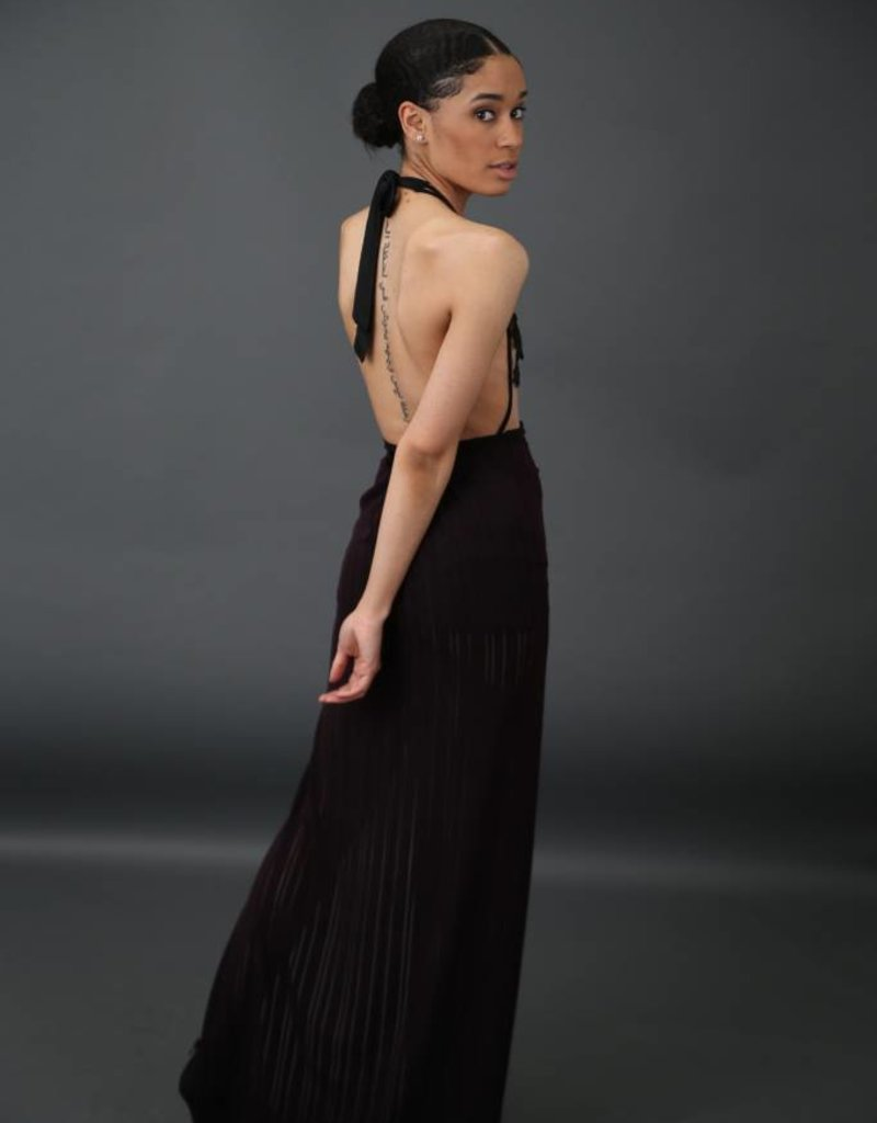 Couture Sheer Double Slit Skirt