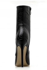 Leather Snake texture High Heel Boots