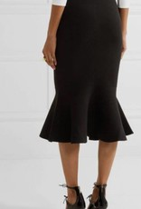 Sophisticated Pencil Flounce Skirt