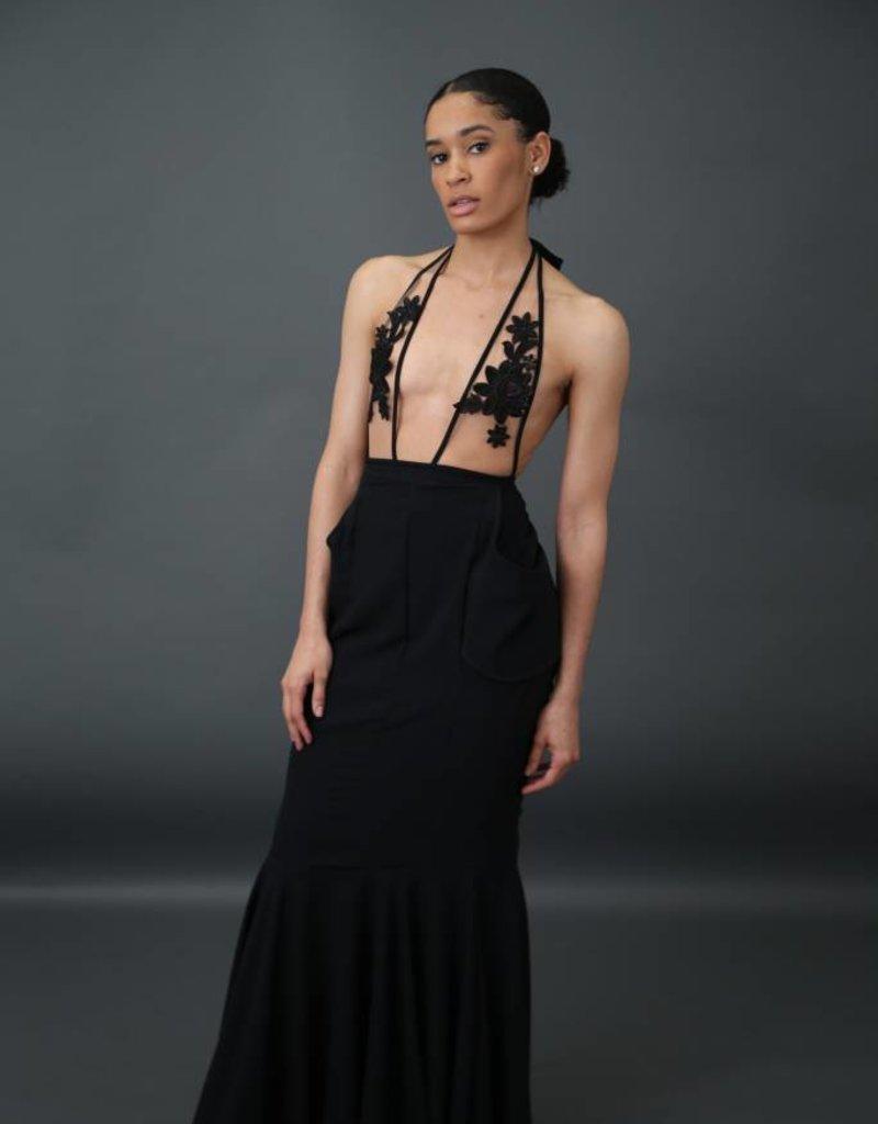 BellaNiecele Plunge Pocket High Waist mermaid Skirt