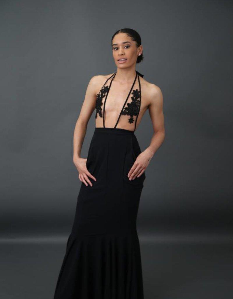 Plunge Pocket High Waist mermaid Skirt