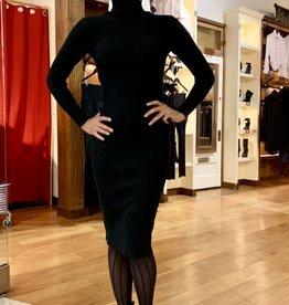 BellaNiecele Rib Knit Turtle Neck Sweater Dress