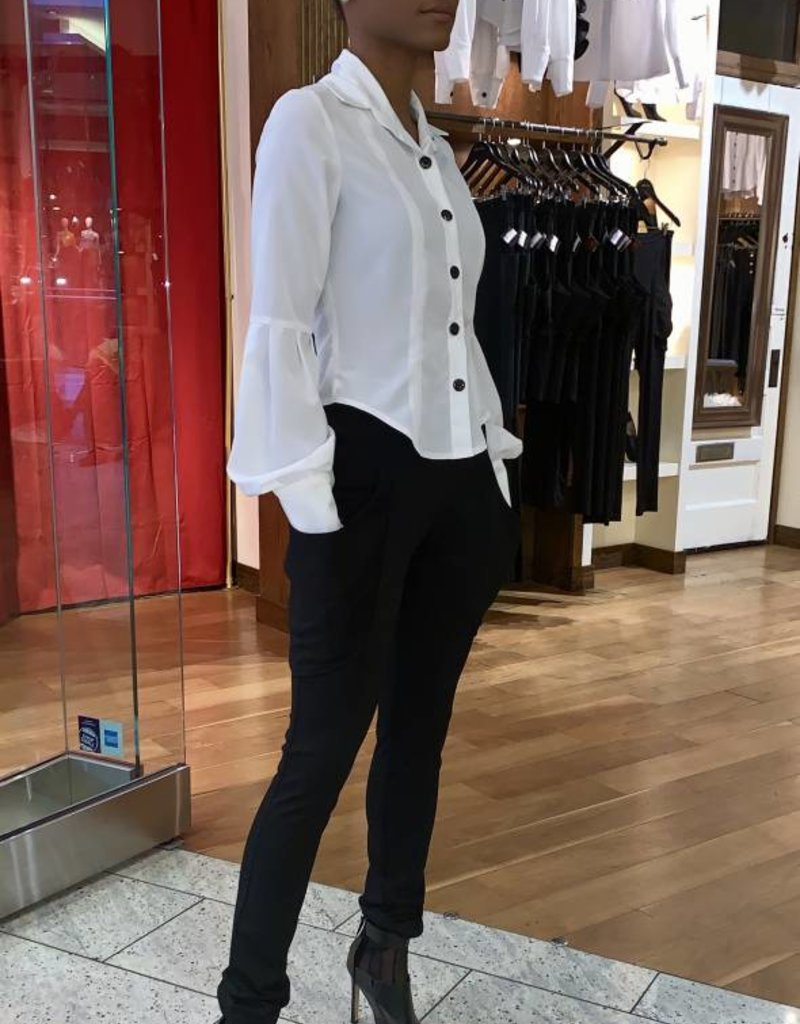 High Waist Plunge Pocket Trousers