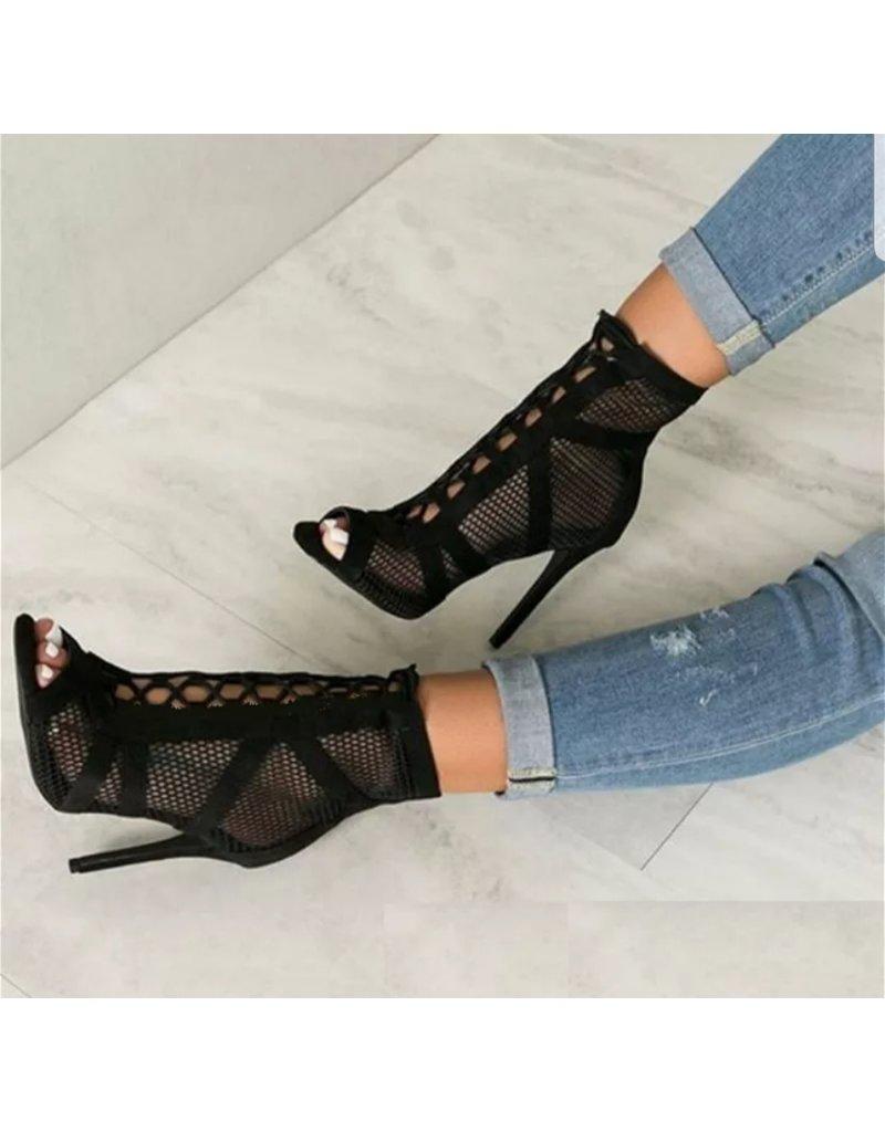 43f85ad0254 BellaNiecele Net Suede Cross Stap Lace-up Sandal Heel ...