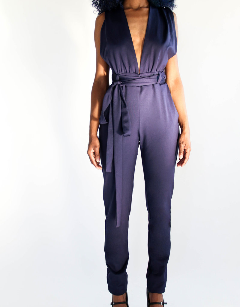 BellaNiecele Tie Up One Piece Jumpsuit