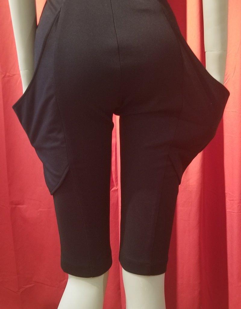 BellaNiecele Pantalones cortos de bolsillo ancho de cintura alta