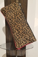 BellaNiecele Leopard Leather Clutch