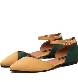 BellaNiecele Two Tone Mary Jane Flats