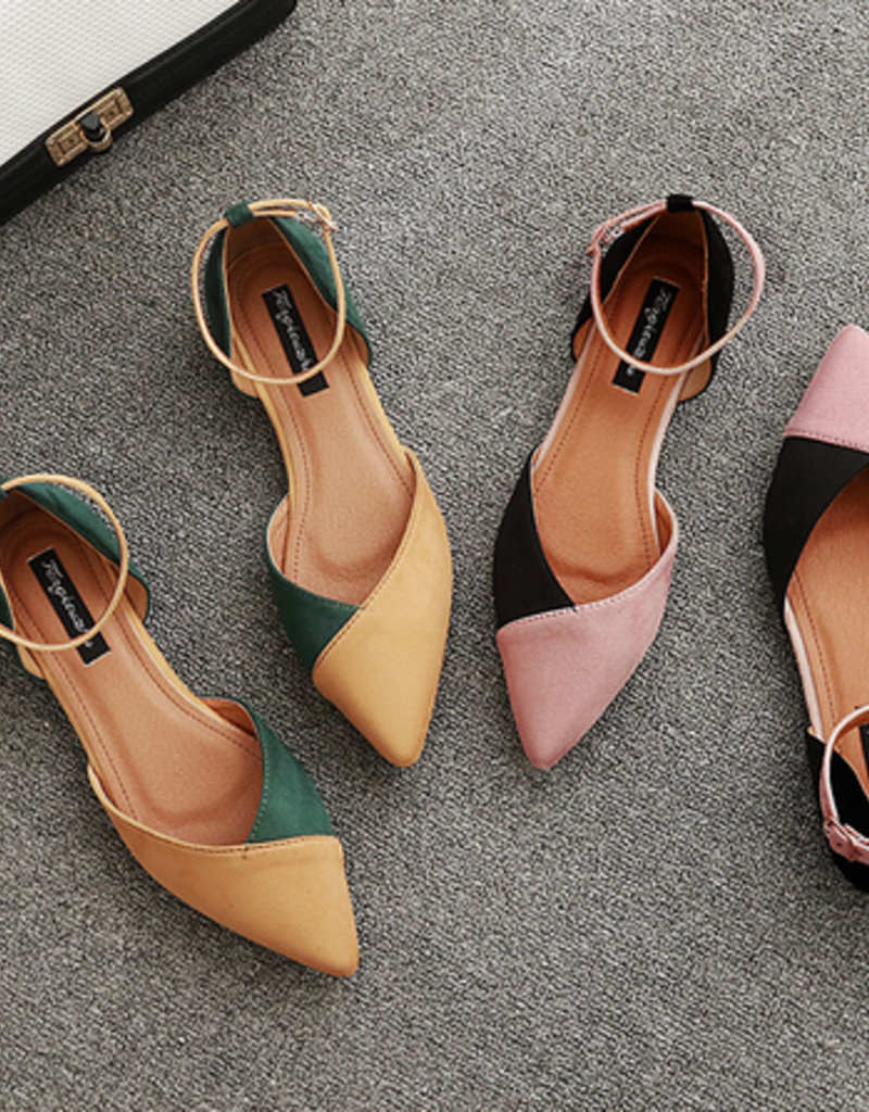 Two Tone Mary Jane Flats