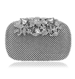Crystal Flower Evening Clutch