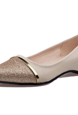 Gold Pointed Toe Loafers