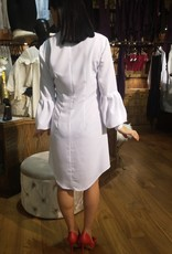 BellaNiecele Lantern Sleave button Down Dress
