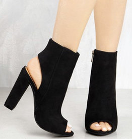 Ankle Open Toe Suede Boot