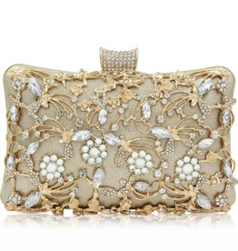 Floral Crystal Clutch
