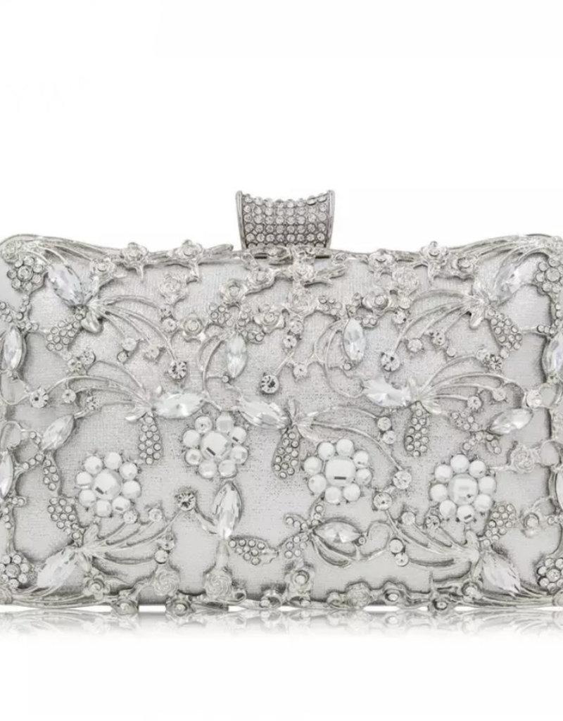 Floral Crystal Clutch