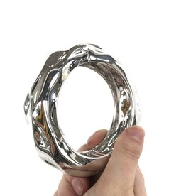 ALEXIS BITTAR Crumpled Rhodium Hinge Bracelet