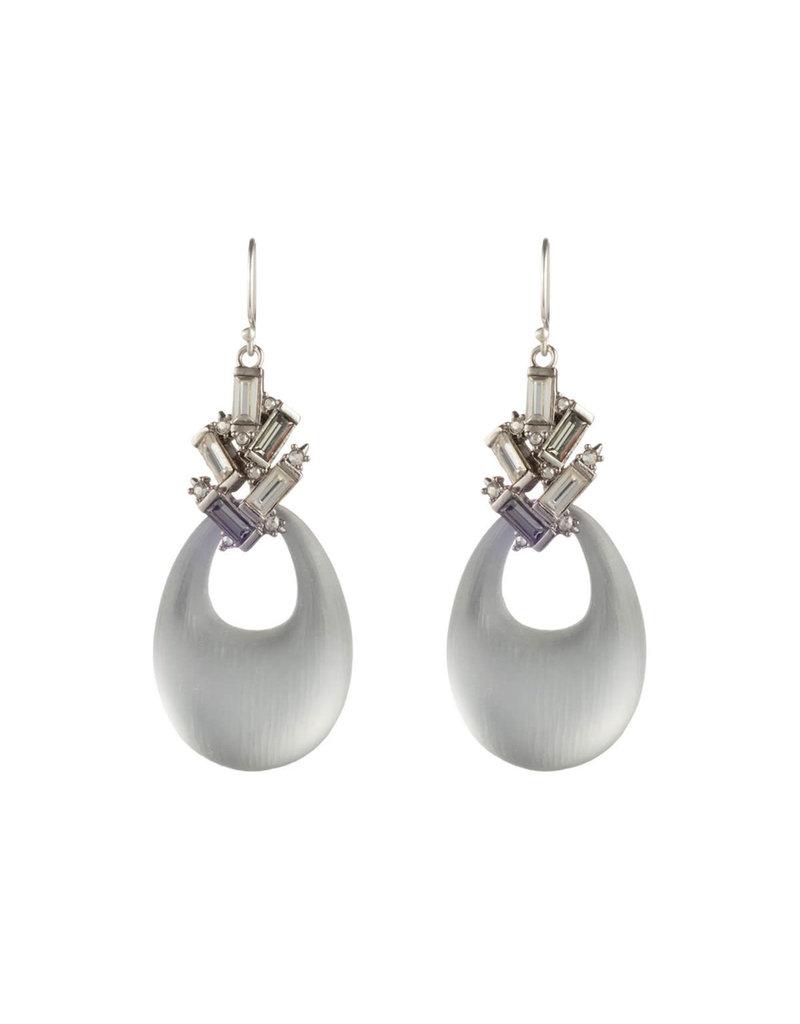 ALEXIS BITTAR Crystal Baguette Cluster Drop Ear - Silver