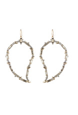 ALEXIS BITTAR Crystal Baguette Paisley Wire Earring