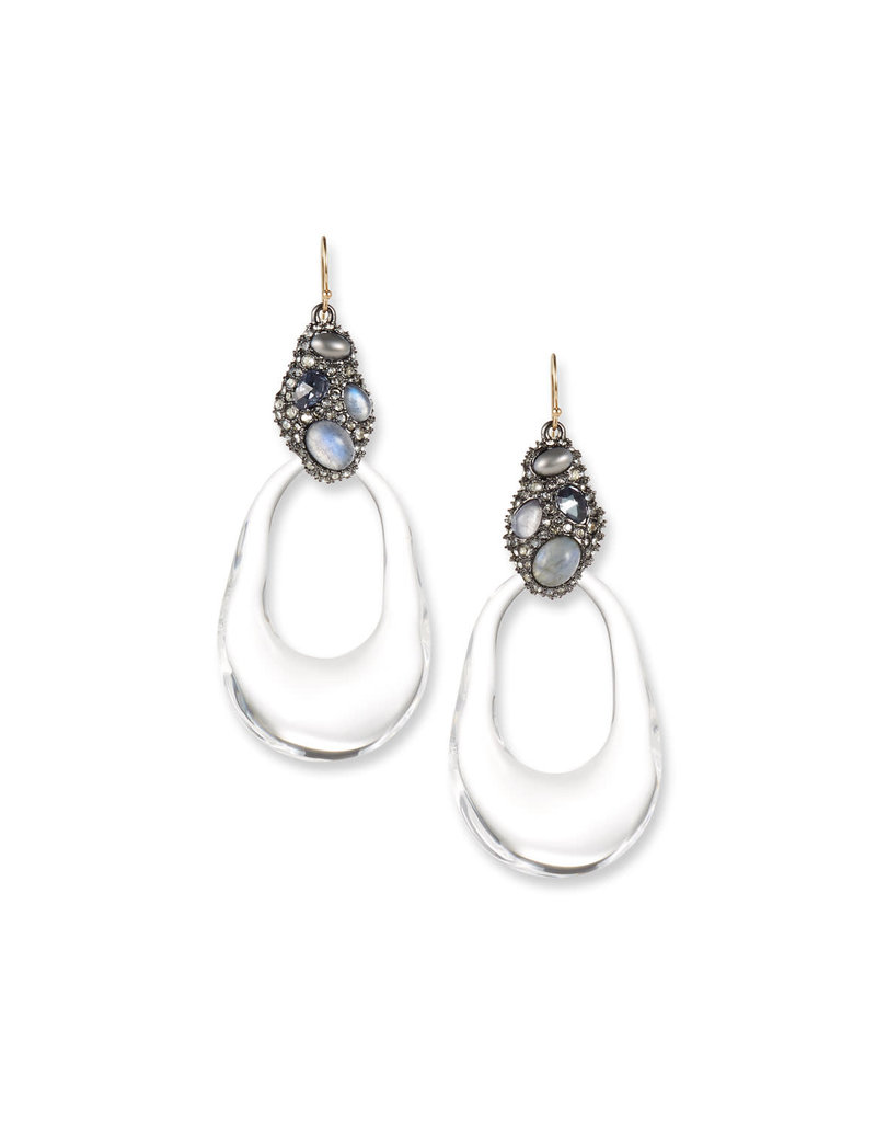 ALEXIS BITTAR Stone Cluster Link Earring - Clear