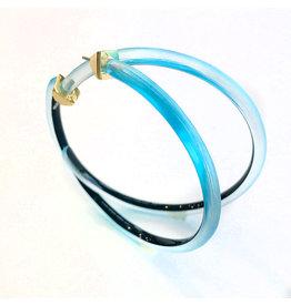 ALEXIS BITTAR Large Skinny Hoop - Light Turquoise