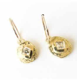 BREVARD 18k Diamond Dot Earring