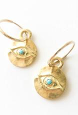 BREVARD 18K Horus Earrings with Turquoise