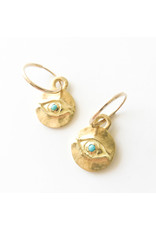 BREVARD 18K Medium Horus Earring with Turquoise
