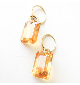 BREVARD Emerald Cut Citrine Earrings